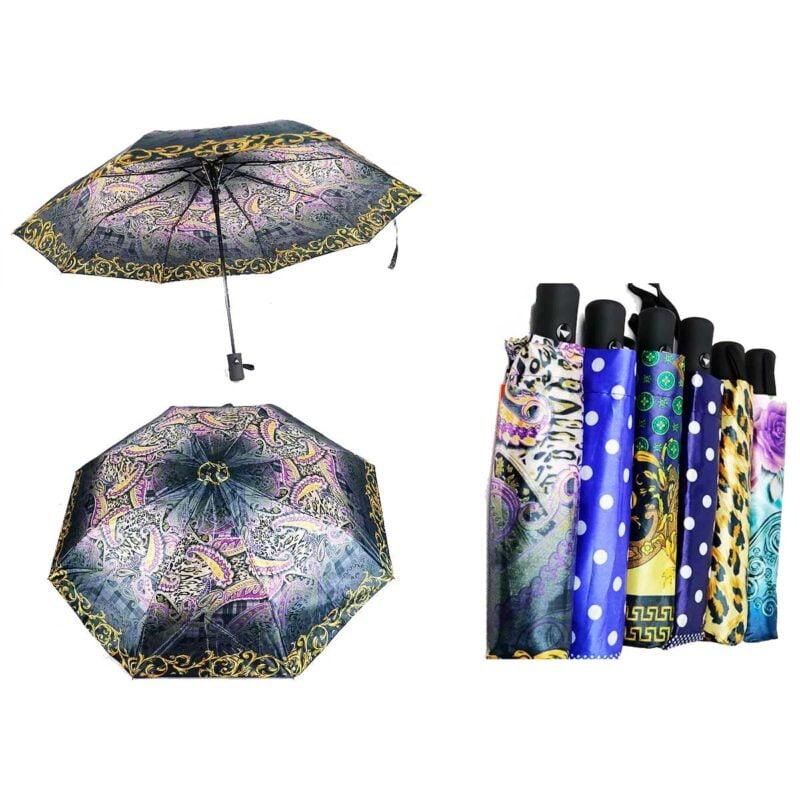 Женские зонты полуавтомат материал купола сатин