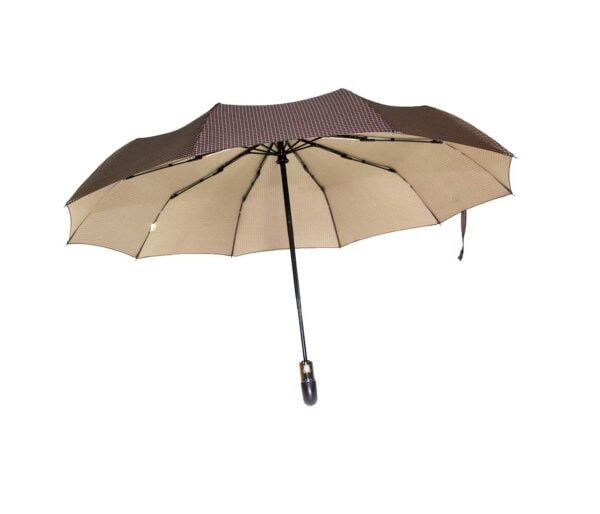Двусторонний зонт полный автомат синий-черный