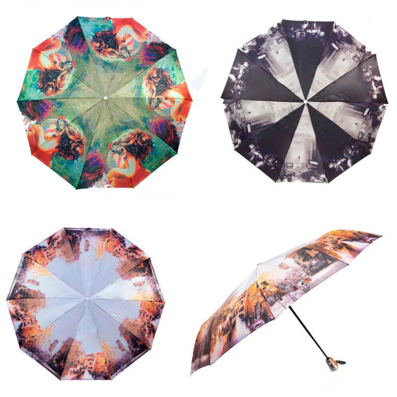 Женские зонты сатин