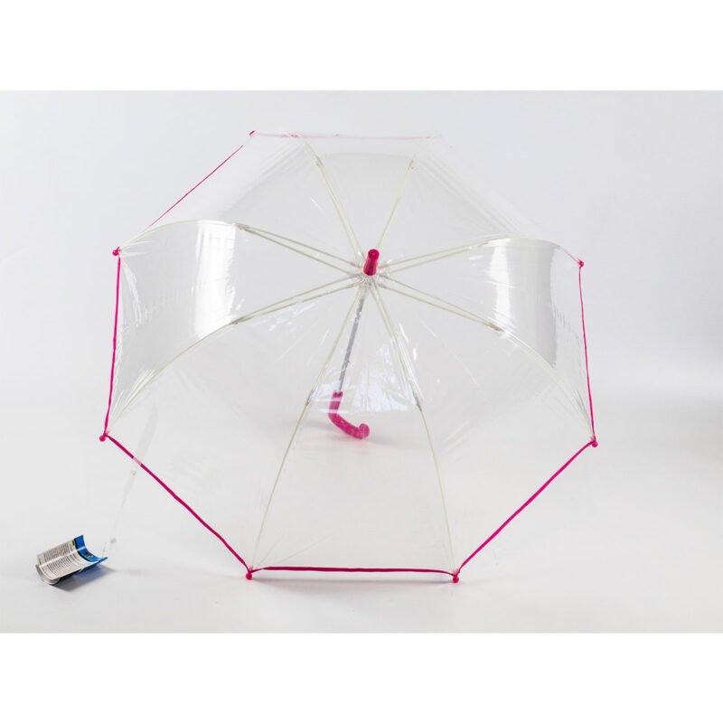 Прозрачный детский зонт-трость
