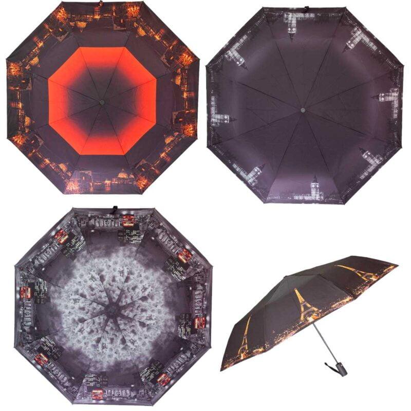 Зонты полуавтомат с городами