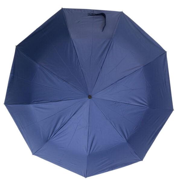 Зонт полуавтомат ручка-крюк синего цвета