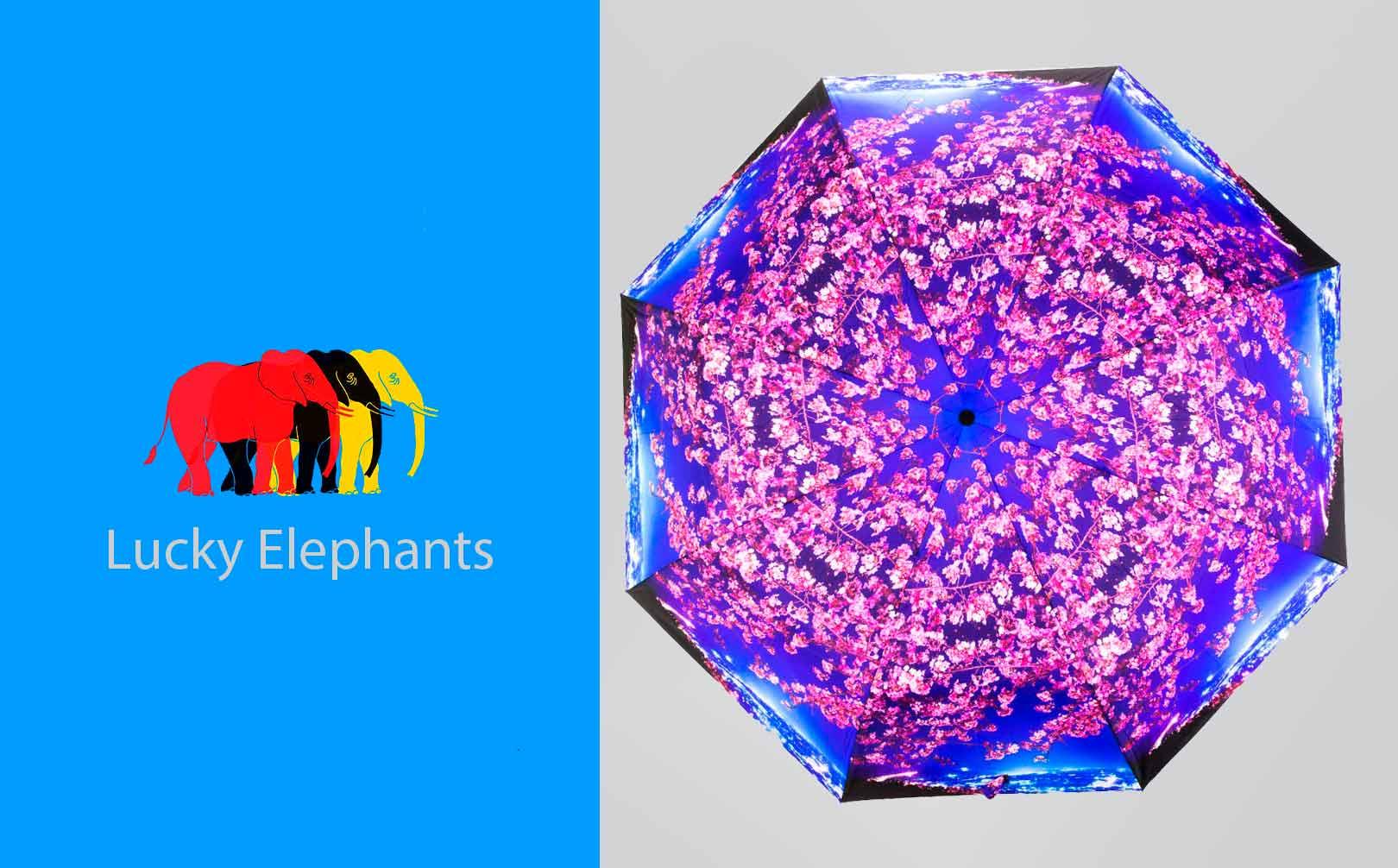 зонты lucky elephants