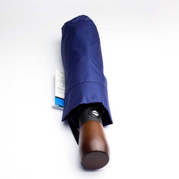 Зонт полный автомат с деревянной ручкой