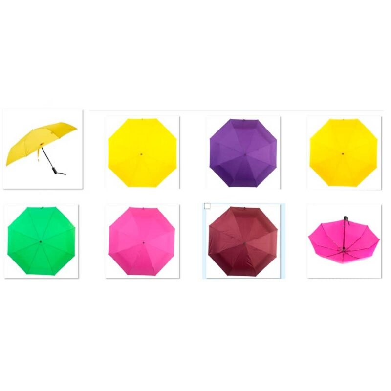 Зонты полуавтомат однотонный