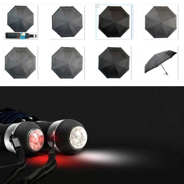 Зонты с фонариком полный автомат