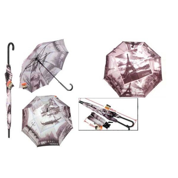 Женский зонт трость полуавтомат