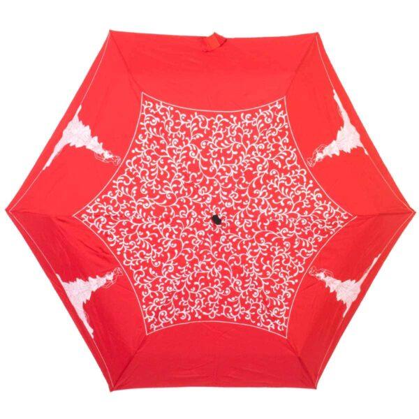 Мини зонт Три Слона механический белого цвета